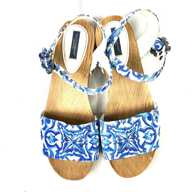 Tamanco D&G Wooden Blue Mojalica