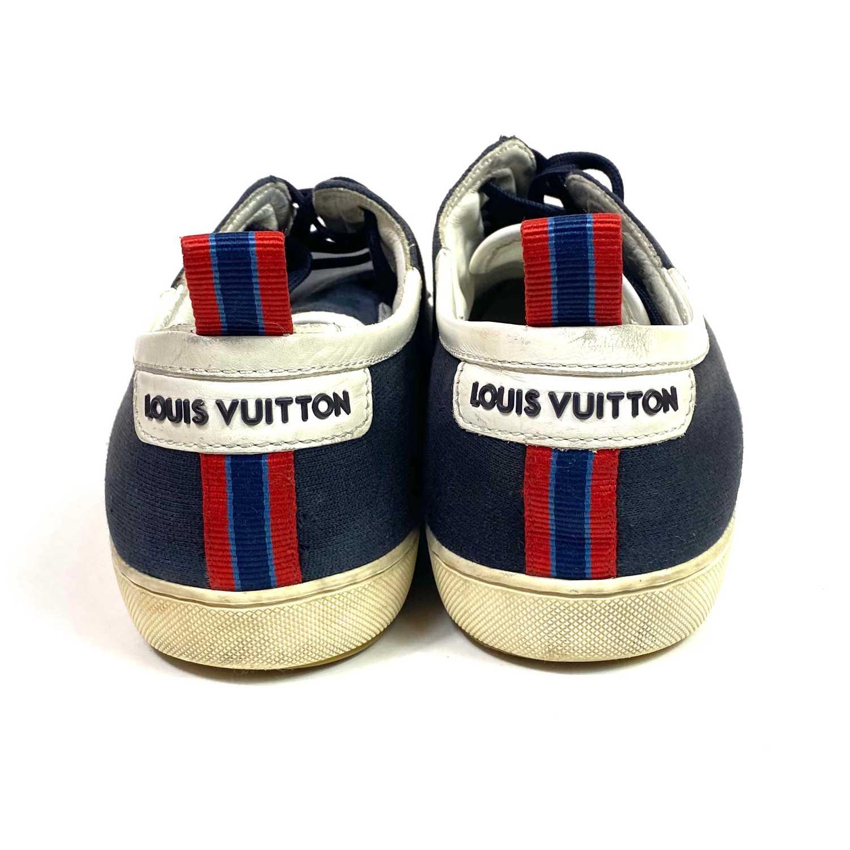 Tênis Louis Vuitton Camurça Marinho
