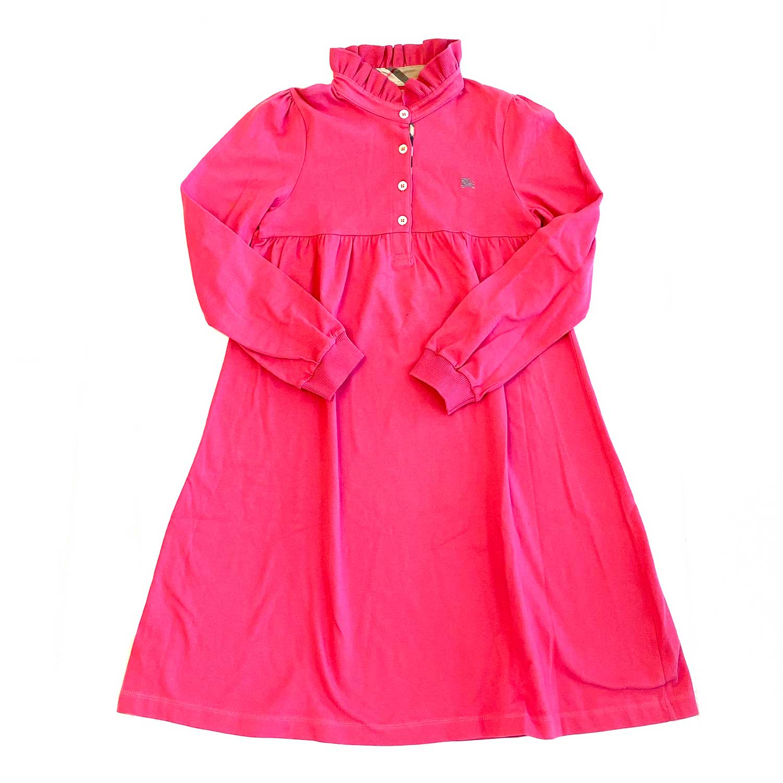 Vestido Burberry Manga Longa Rosa