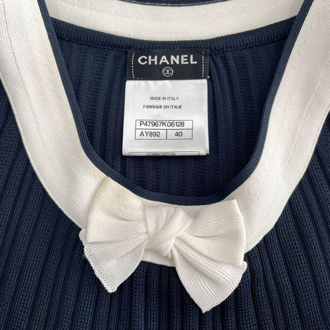 Vestido Chanel Bicolor