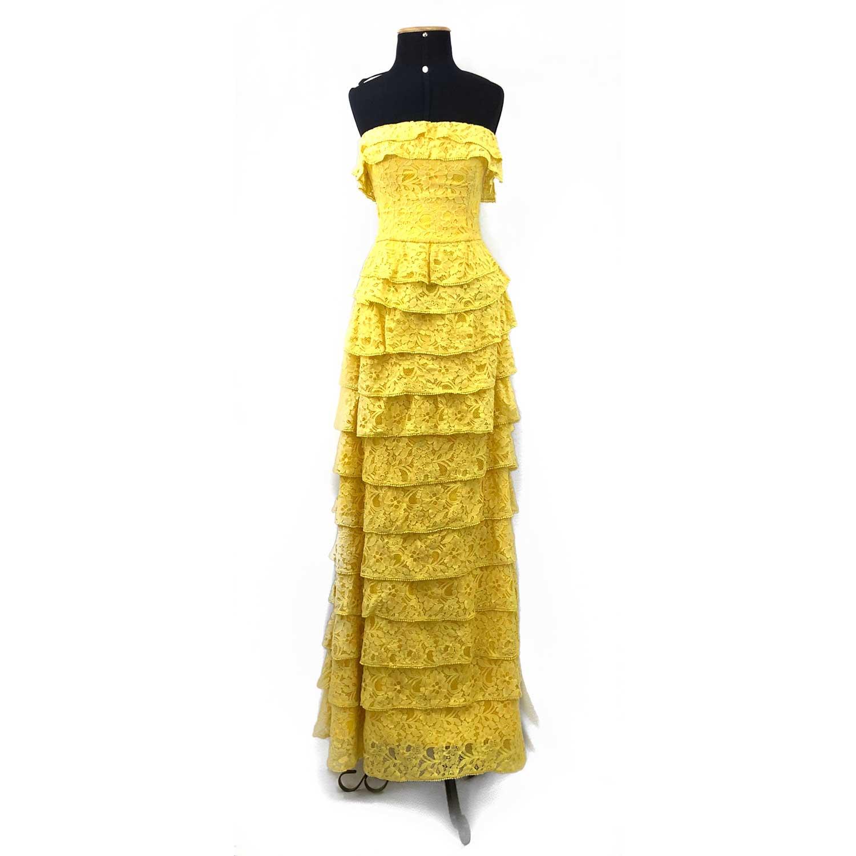 Vestido Daslu Amarelo Renda