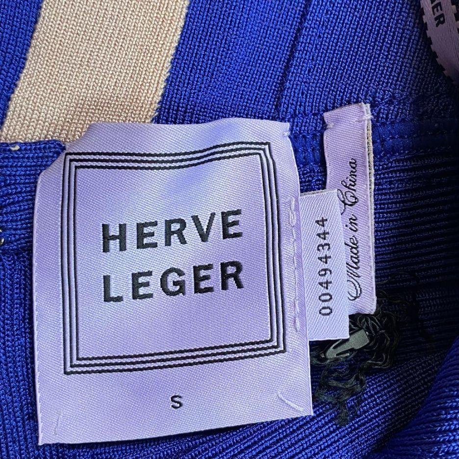 Vestido Herve Leger Bandagem Azul