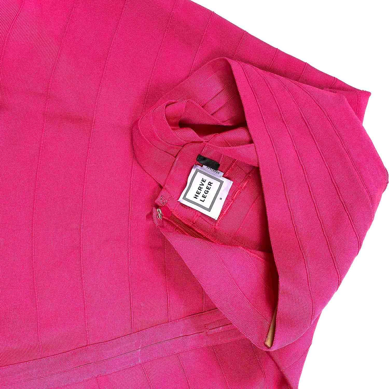 Vestido Herve Leger Bandagem Evasê Pink