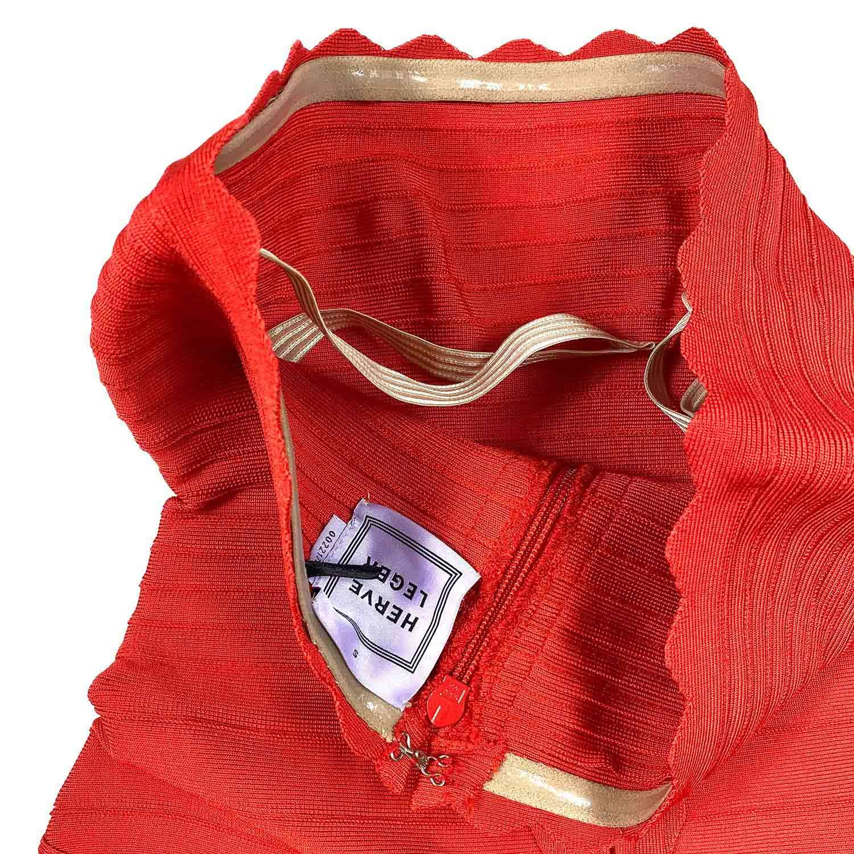 Vestido Herve Leger Bandagem Evasê Vermelho