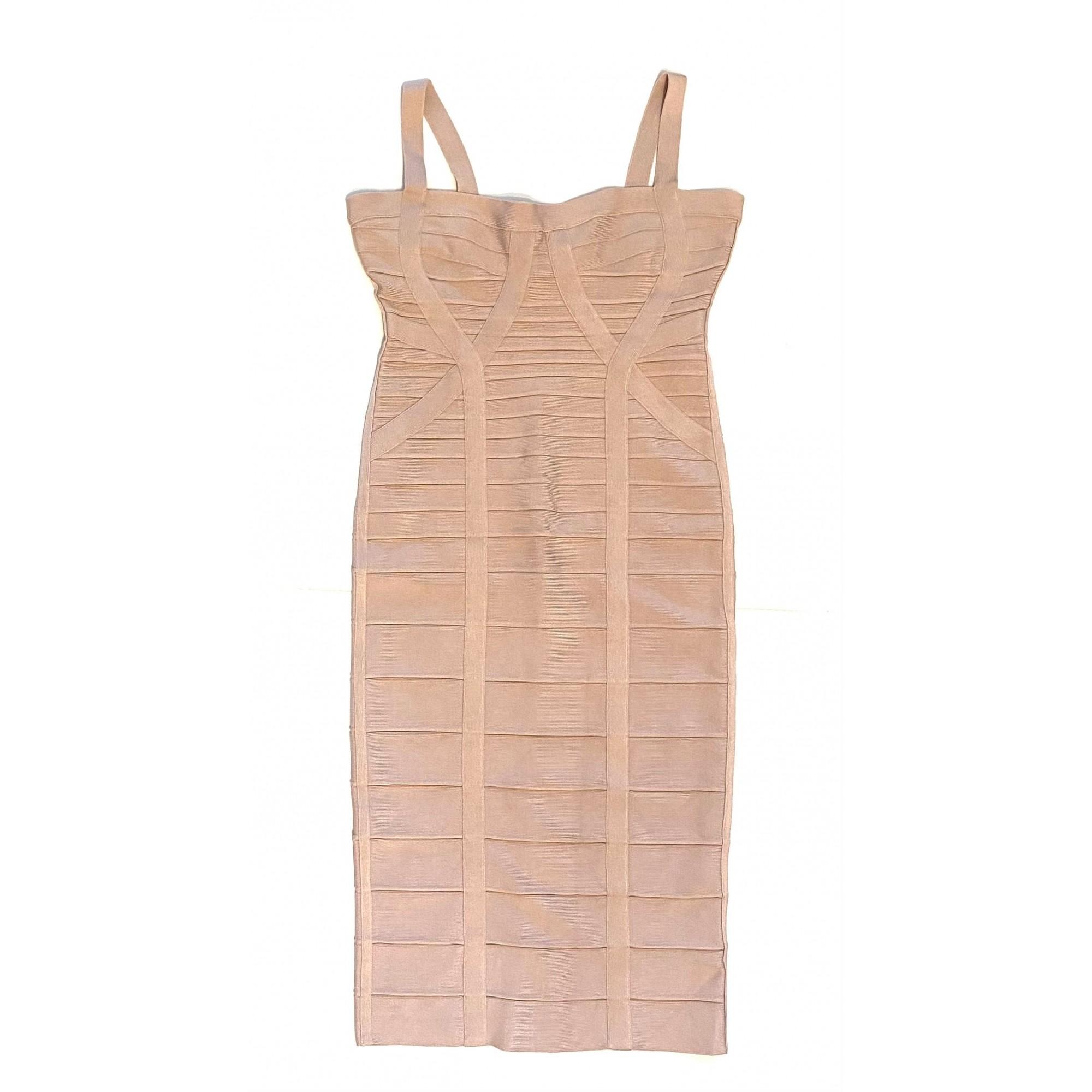 Vestido Herve Leger Bandagem Nude