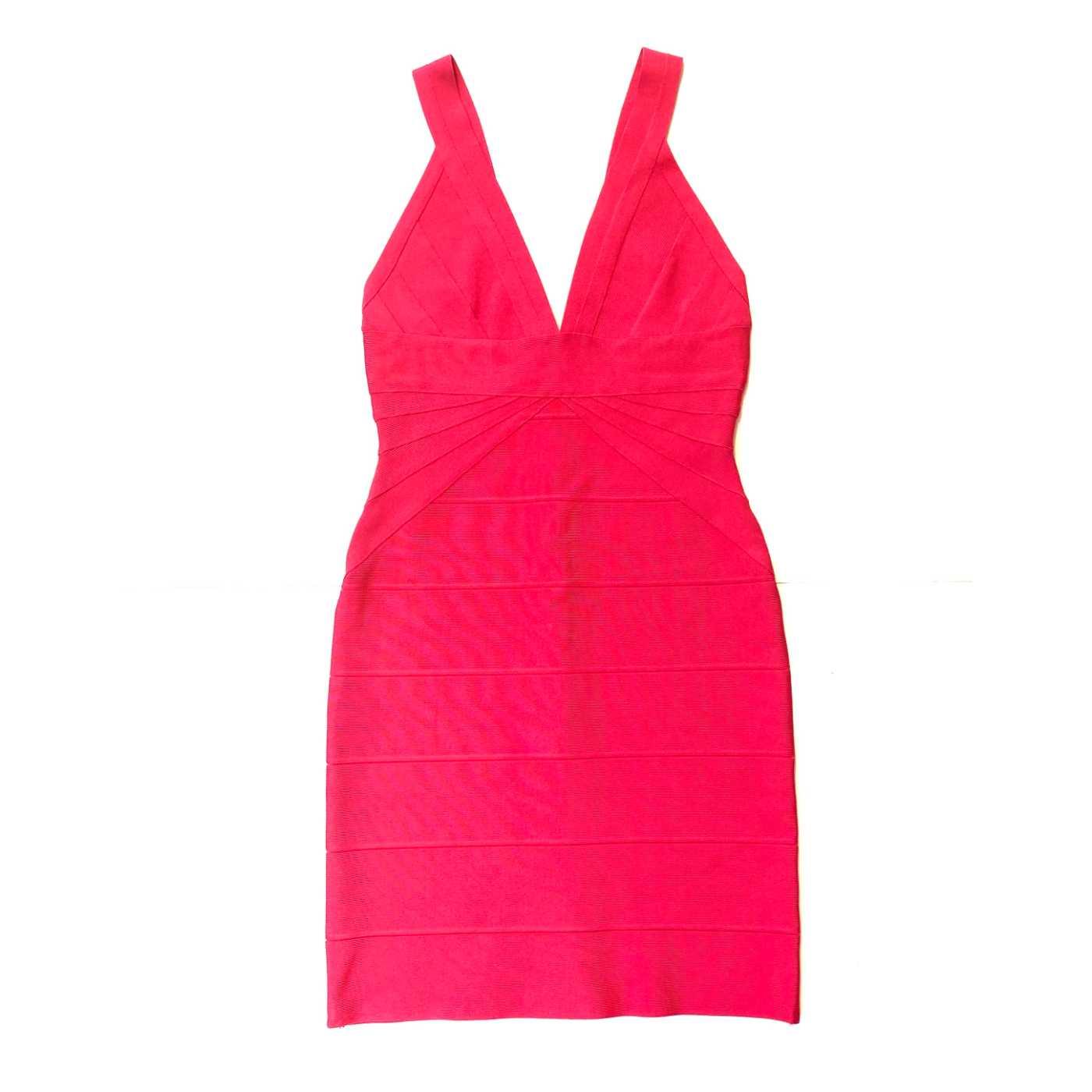 Vestido Herve Leger Bandagem Pink
