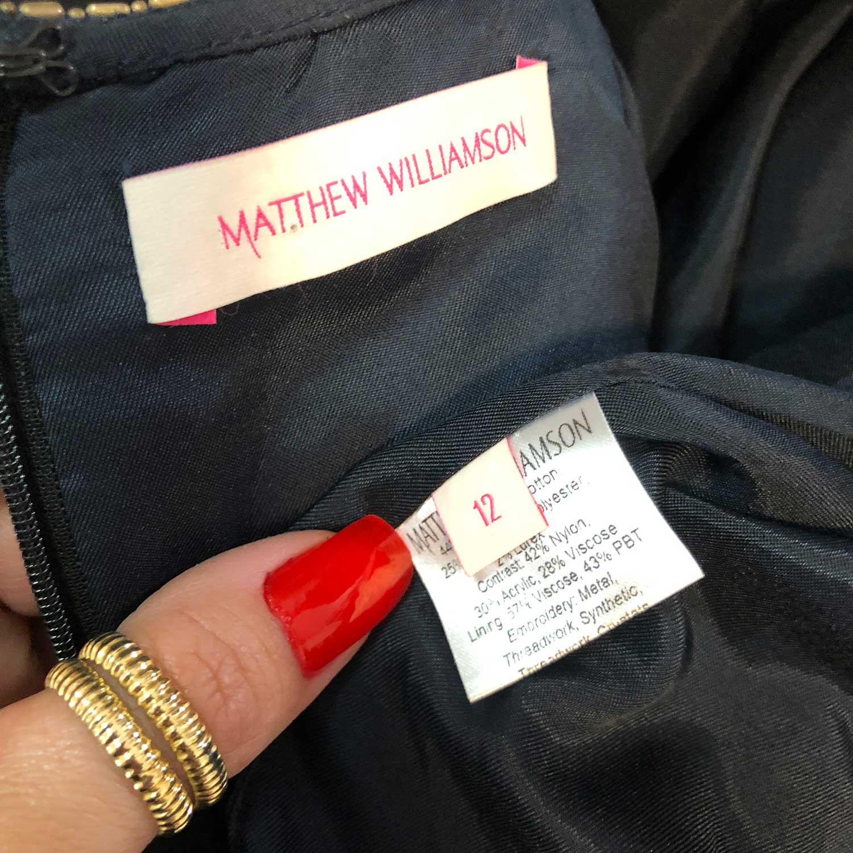 Vestido Matthew Williamson Estampado