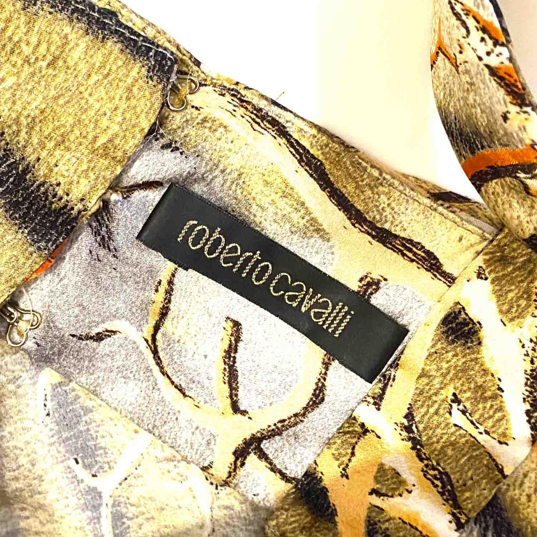 Vestido Roberto Cavalli Animal Print e Corais