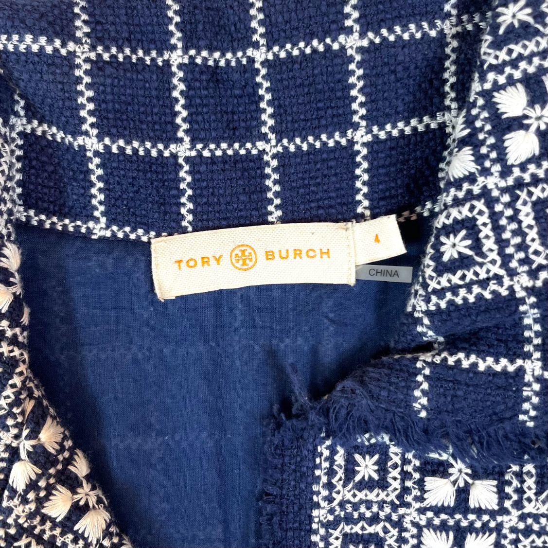Vestido Tory Burch Bicolor