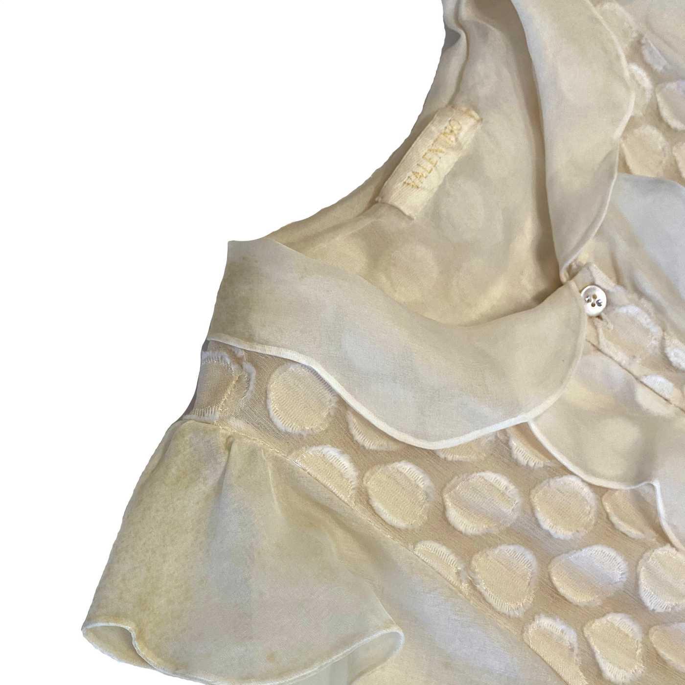 Vestido Valentino Babado Offwhite
