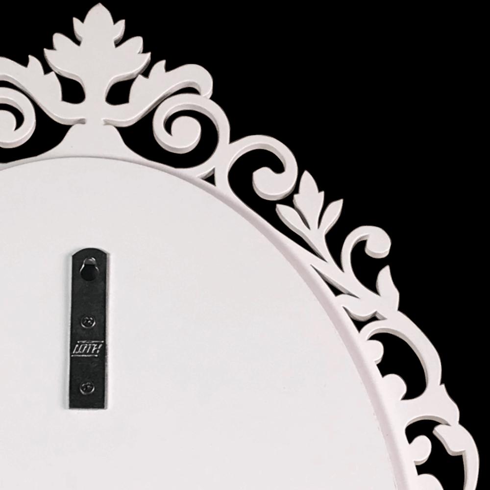 Espelho Laqueado Decorativo Veneza Branco 60X40cm Casami
