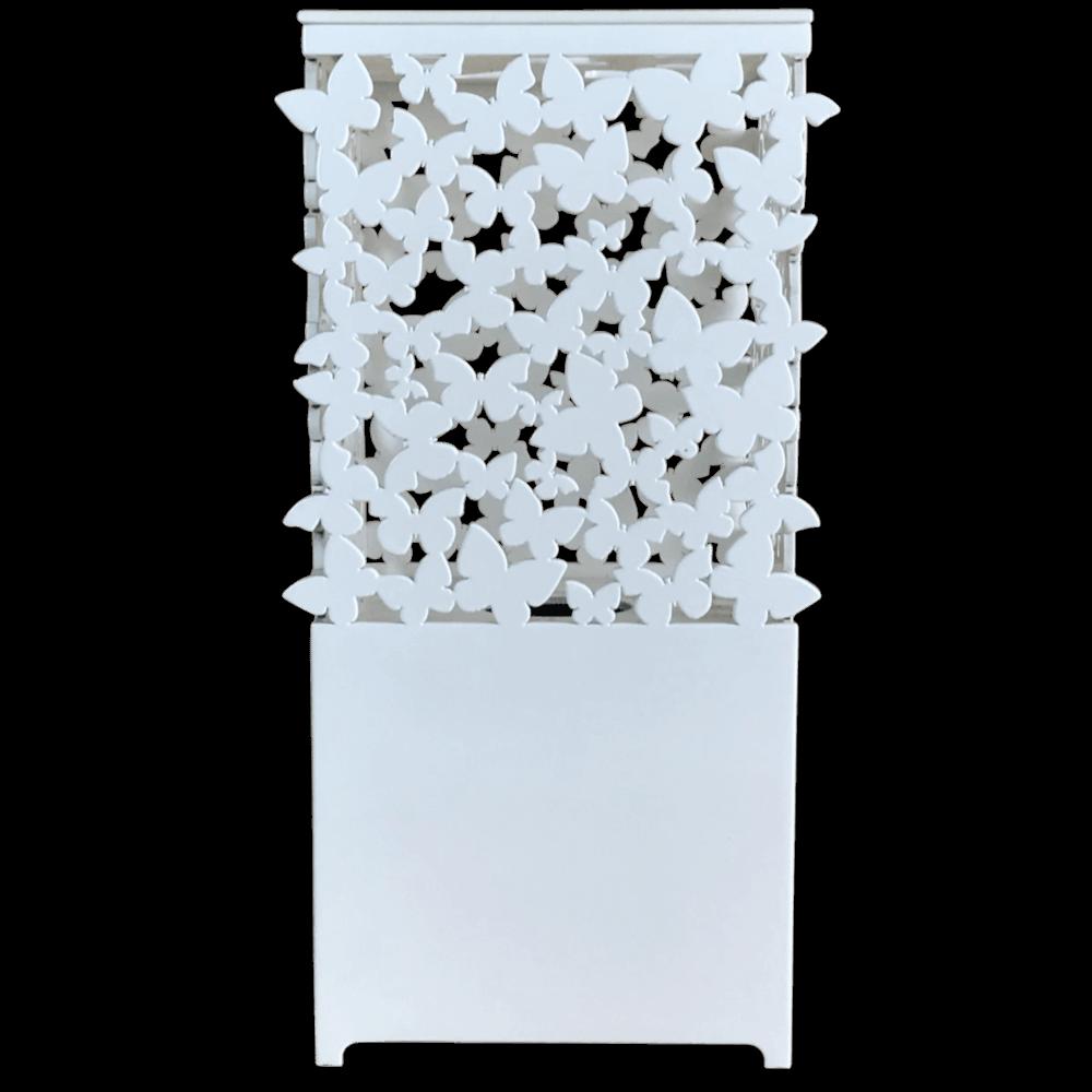 Luminaria Abajur Laqueado Borboletas Branco 27X12cm Casami