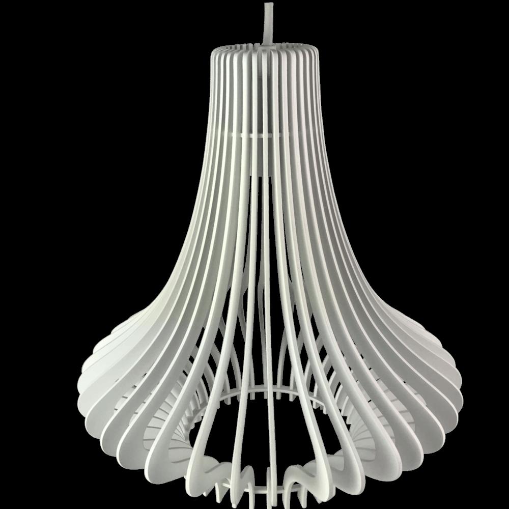 Luminária Pendente Laqueado Milão Branco 30X35cm Casami