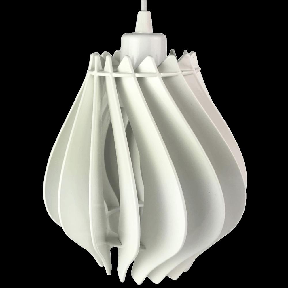 Luminária Pendente Laqueado Nápoles Branco 22X23cm Casami