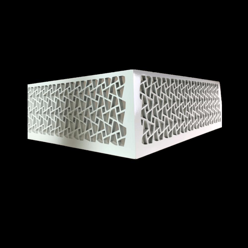 Luminaria Plafon LED Laqueado Parma Branco 35X35cm Casami