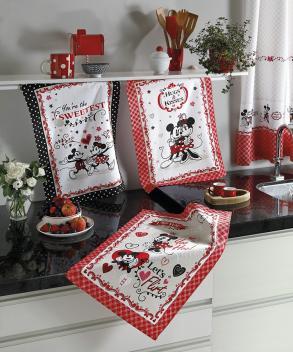 Kit Pano de Prato Tecilar Mickey e Minnie