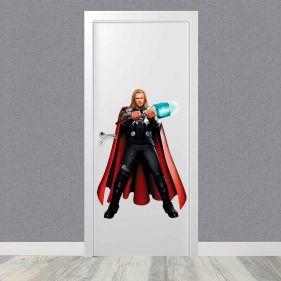 Adesivo De Porta Thor Vingadores 50x75cm