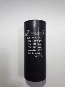 Capacitor Bobina Partida Motores 216-259uf - Novo