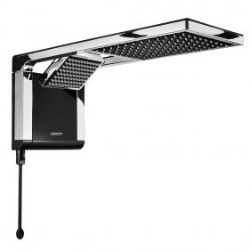 Chuveiro Acqua Duo Ultra Eletronica 220V 7800W Lorenzetti - Black/Cromado