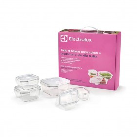 Conjunto Com 4 Potes De Vidro Herméticos Electrolux -  80000708