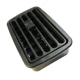 Difusor Retangular Ar condicionado Preto Para Adaptação Encaixe 10x6cm