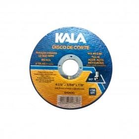 Disco Reto De Corte Com 2 Telas Aço Inox 114,3X1X22,23MM Kala - 842630