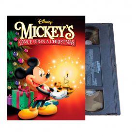 Fita Vhs Aconteceu No Natal Do Mickey Mouse - Raro - Seminovo