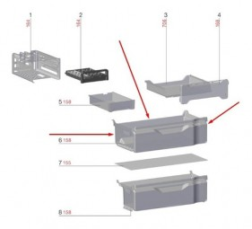 - Gaveta Superior Freezer Dm84x Db84 Dm86v -70003986 Encomenda
