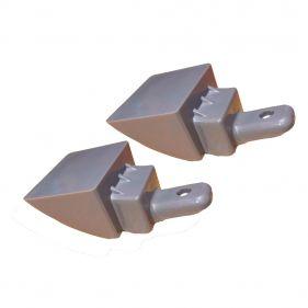 Kit 2 Unidades Suporte Inferior Cinza Puxador Geladeira Electrolux DF52X DW52X DF51X DF42X DW42X IF51X - 67405517