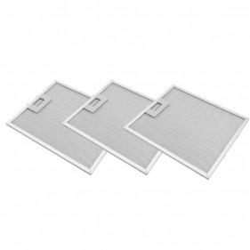 Kit 3 Unidades Filtro De Alumínio Coifa Depurador Electrolux CE60X CE90X - 1010GY