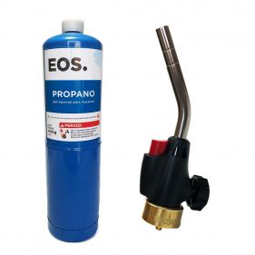 Kit Maçarico Portátil Berzomatic - WT2301 + 1 Cilindro de Gás Propano 400g EOS