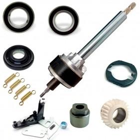 Kit n°3: Mecanismo Alado Para Lavadoras Electrolux Lm08 Lt10 Lf90 Ltr12 Lte12 Lt12 Eixo Longo + Complementos