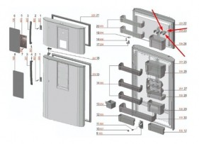 Porta Taças Geladeira Df80 - 67496135 - Encomenda
