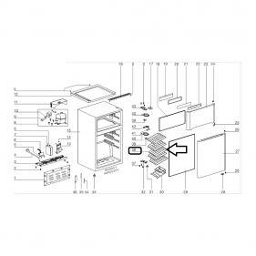Prateleira Adega Acd28 Acs24 Acs34 Electrolux 502901060029