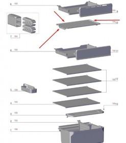 Prateleira Freezer Geladeira Tf56s - A11514501 - Encomenda -