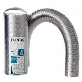 Tubo Flexível de Alumínio Flextic Para Aquecedor de Água a Gás Diâmetro 80mm Comprimento 3m
