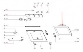 Vidro Interno Forno Oe60m A12497201 Electrolux - Encomenda