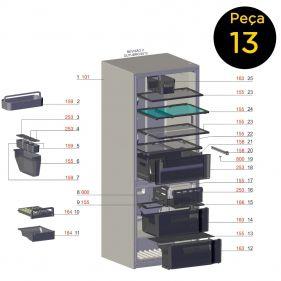 Vidro Prateleira Freezer Para Refrigerador DB53 DB52 DT52X IB53 IB52 Electrolux - 63000414