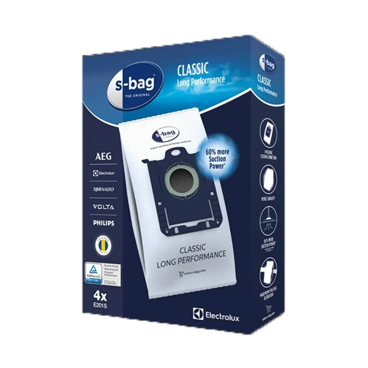 4 Sacos S-BAG Para Aspirador de Pó Electrolux - DT3010BR005 A18079301