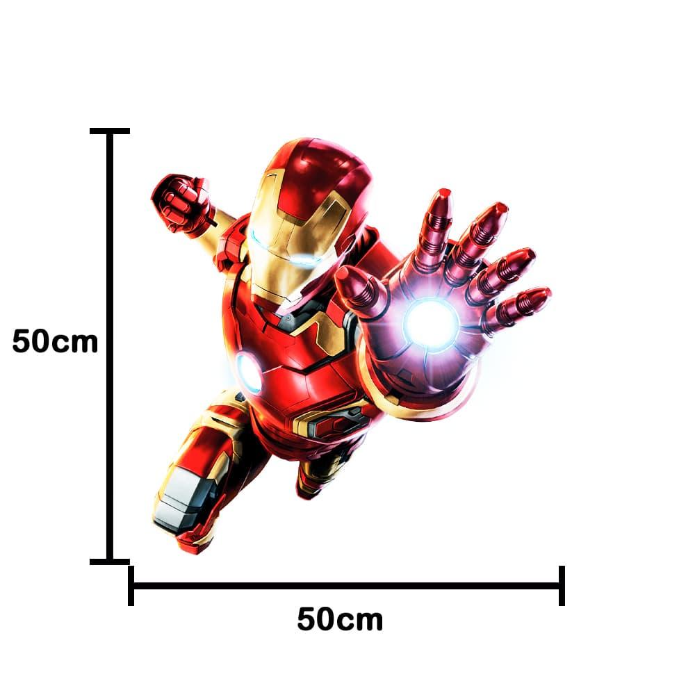 Adesivo De Porta Homem De Ferro Vingadores 50x50cm