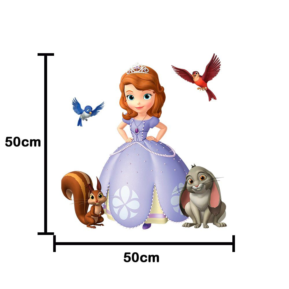 Adesivo De Porta Princesa Sofia 50x50cm