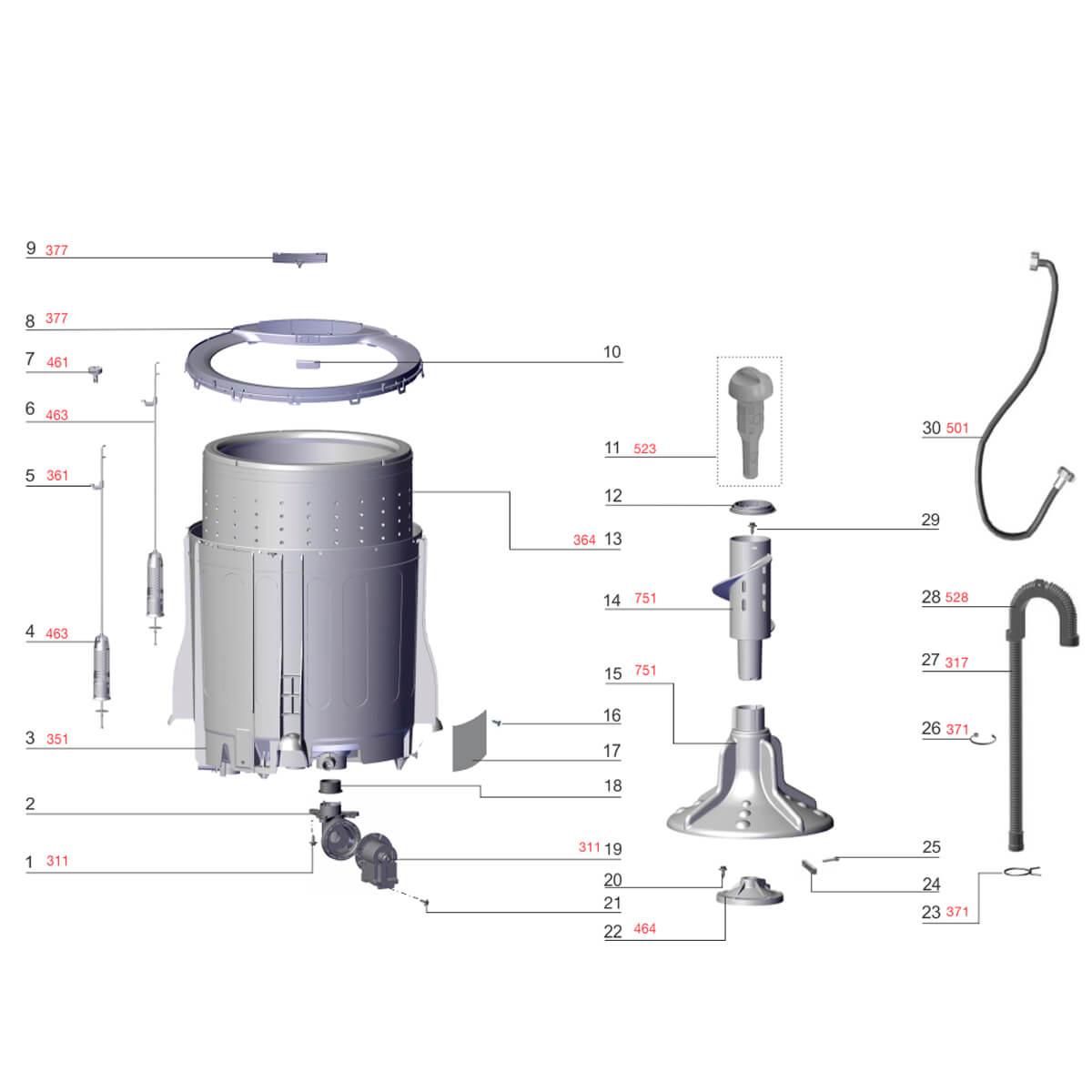 Agitador Inferior Da Lavadora De Roupas Electrolux - 67401822