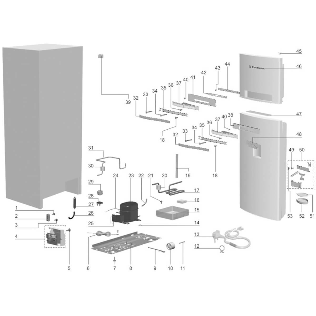 Arremate Do Acionador De Água Para Refrigerador Electrolux DW50X - 67496163