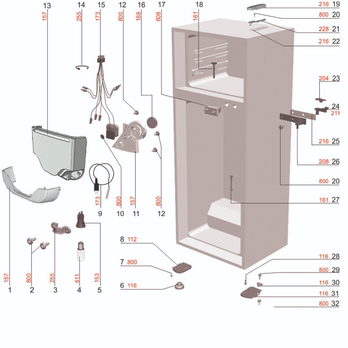 Auto Close Door Para Refrigerador Electrolux - 67492115
