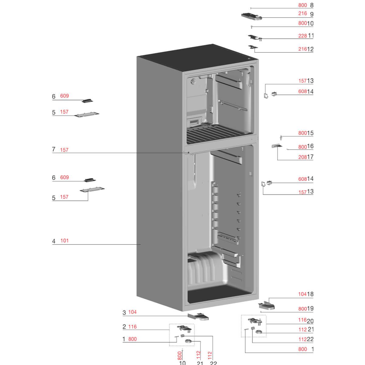 Avental Dobradiça Inferior Esquerdo Refrigerador Electrolux IF55S TF55S TF56S -  A11214402