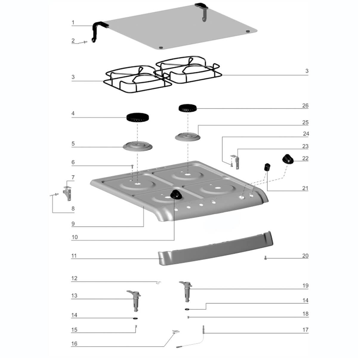 Base Queimador Rápido Para Fogão 4 Bocas Electrolux -  72001769
