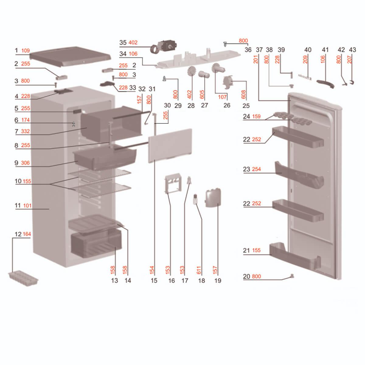 Botão Acionamento Geladeira Electrolux - 77187821