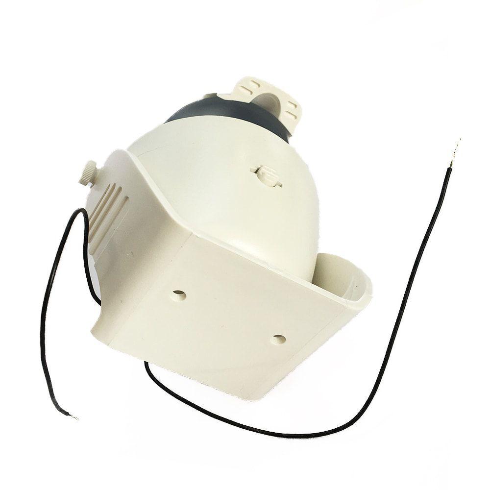 Bússola De Sobrepor Com Iluminação 12v 11cm x 12cm Branca - 60259