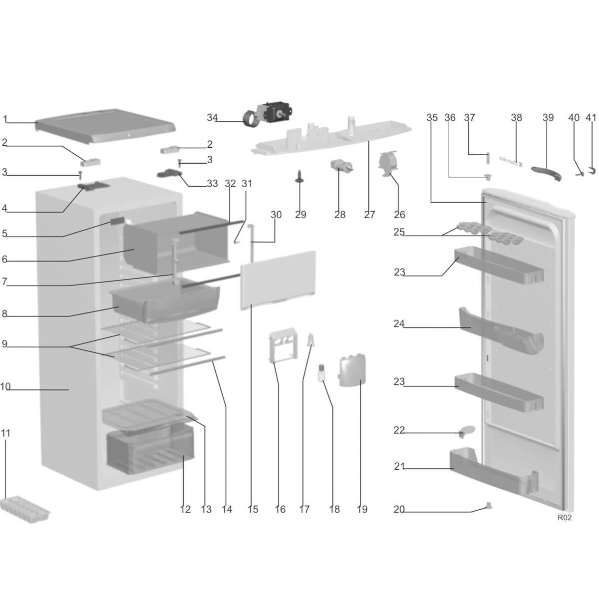 Capa Do Puxador Para Refrigerador Electrolux DF34R DF34G WRD345 DFW35 - 67492286
