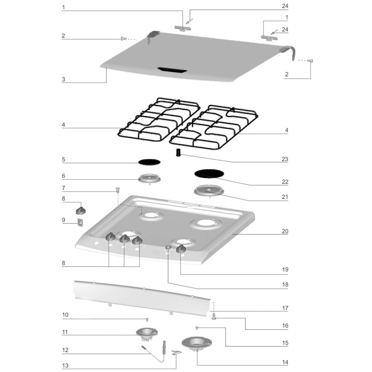 Capa Esmaltada Queimador Rápido Fogão Electrolux -  62603788